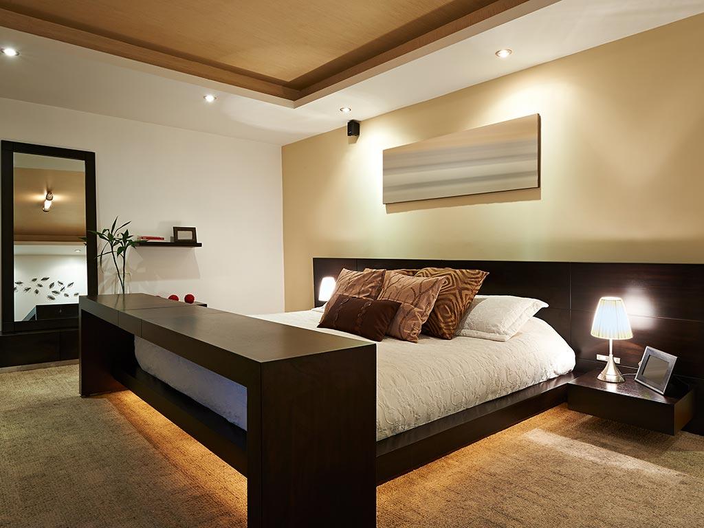 Camera su misura in legno